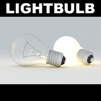 3d lightbulb light bulb model