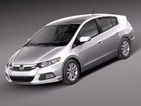 honda insight 2012 hybrid 3d model