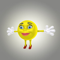 3d model cartoon smile