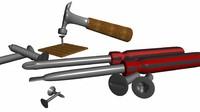 tools set flathead obj free