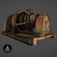 abandoned generator 3d 3ds
