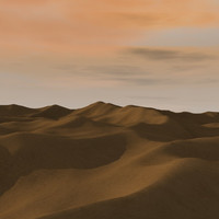 3d model of desert terrain
