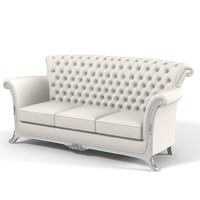 classic tufted comfortable 3d model