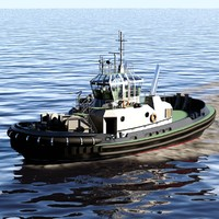 3d model pegasus harbor tug
