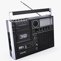 3d model philips 664 cassette player