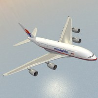 airbus a380-800 malaysia airlines 3d model