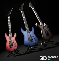 electric guitar 01 3d max