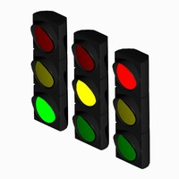 traffic light 3d blend