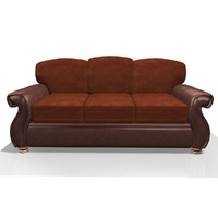 3d model fabric leather chair