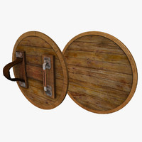 Round Wooden Shield