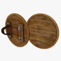 3dsmax wooden shield