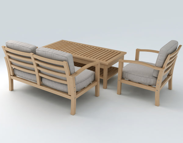 Max set furniture for Outdoor furniture 3d max