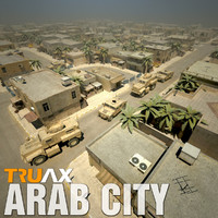 Arab City Set01 with Vehicles