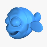 3d cartoon fish no:2 model
