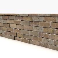 Oriental Stone Block Wall