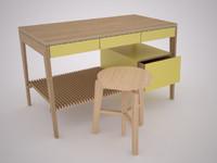 3d model mint desk 2