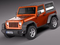3d model of jeep wrangler rubicon suv