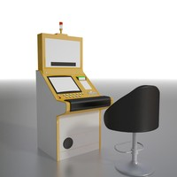 slant slot machine 3d model