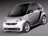 3d smart 42 fortwo 2013