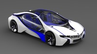 3d model bmw efficient dynamics vision