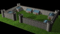Simple castle walls
