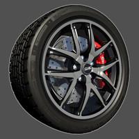 3d model sport racing wheel