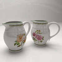 3ds max milk jug roses