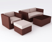 Polyrattan Furniture set