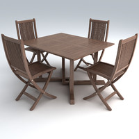set furniture 3d obj