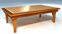 free wood table 3d model