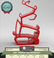 3ds max tree bookshelf