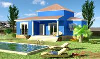 3d model villa house casa