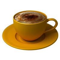 3d cappuccino mug