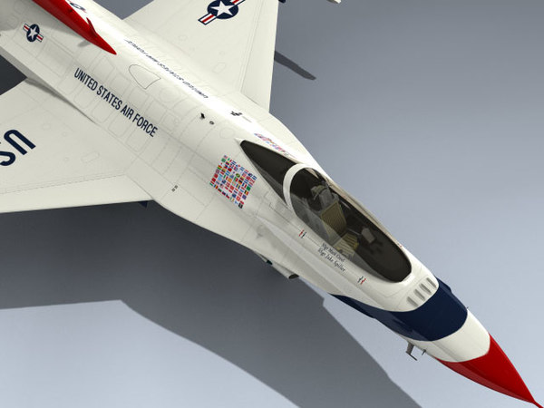3d f-16c thunderbirds 2012 model - F-16C Falcon (Thunderbirds 2012)... by Mesh Factory