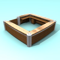 information reception desk 3d model
