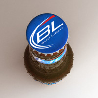 3d bud light beer bottle