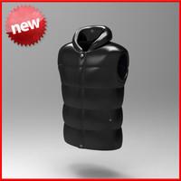 3d vest jacket model