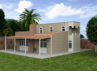 mediterranean sea house villa 3d model