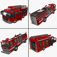 3d model of trucks mercedes modelled