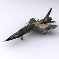 f-105 thunderchief f-105g wild 3d 3ds