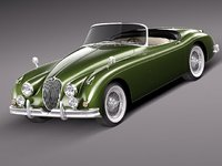 3d model of xk120 1957 1961 roadster