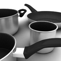 3ds max cooking pots