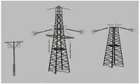 3d poles pylons model