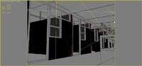 bank interior 3d model