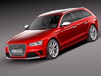 3ds max audi rs4 s4 2013