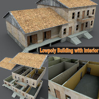 3d weathered houses building