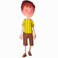 3d model kids boy youngster