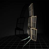 3d model cabinet - glacier