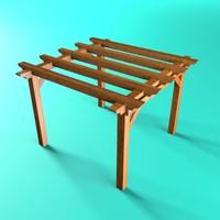 maya wooden pergola