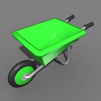 3d model wheel barrow wheelbarrow